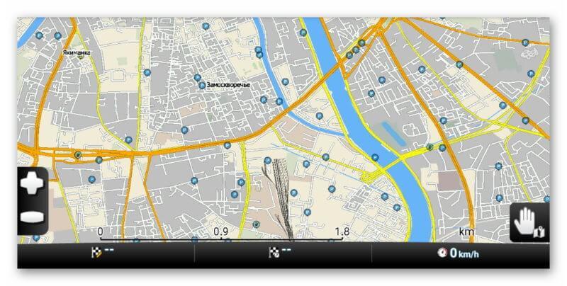Карта навигатора MapFactor