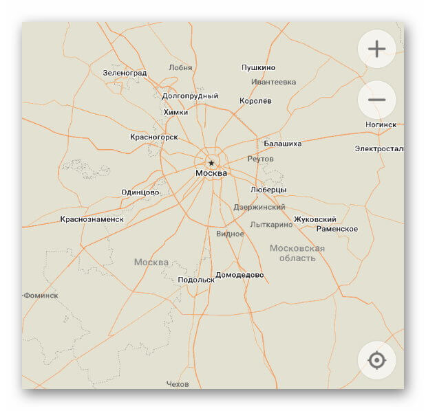 Карта MAPS.ME