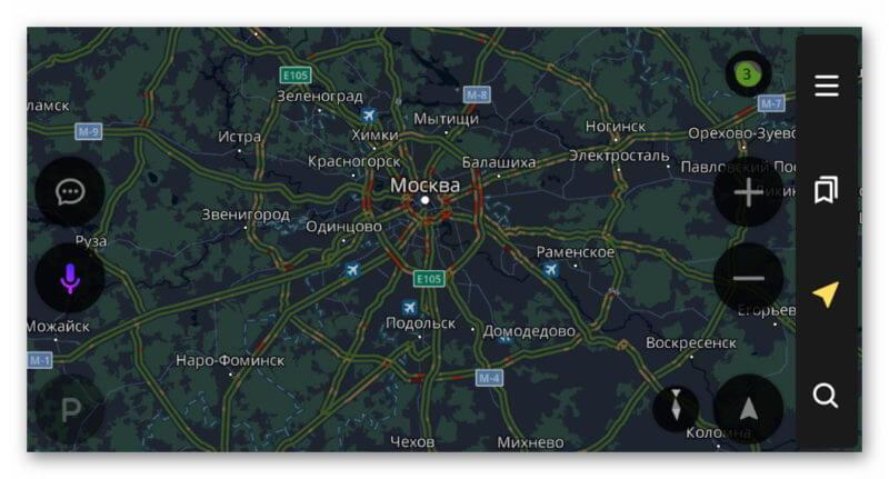 Карта Яндекс.навигатор
