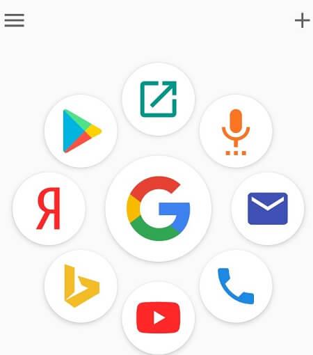 Главный экран в Voice search
