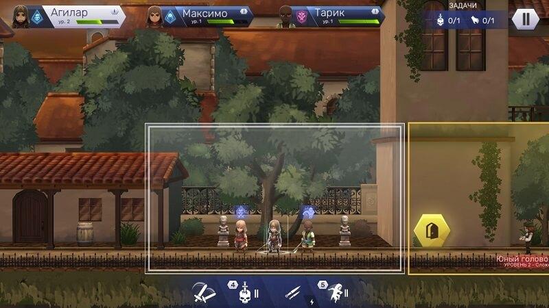 Перемещение по комнатам в Assassin's Creed Восстание для Android