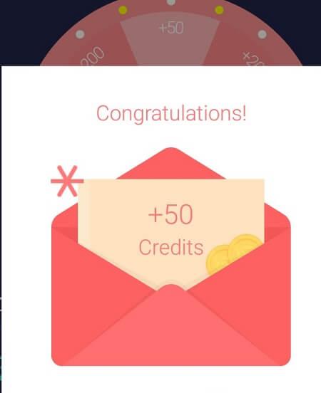 Выигрыш кредитов в WhatsCall