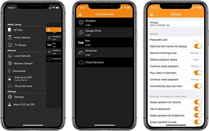 Интерфейс VLC для iOS