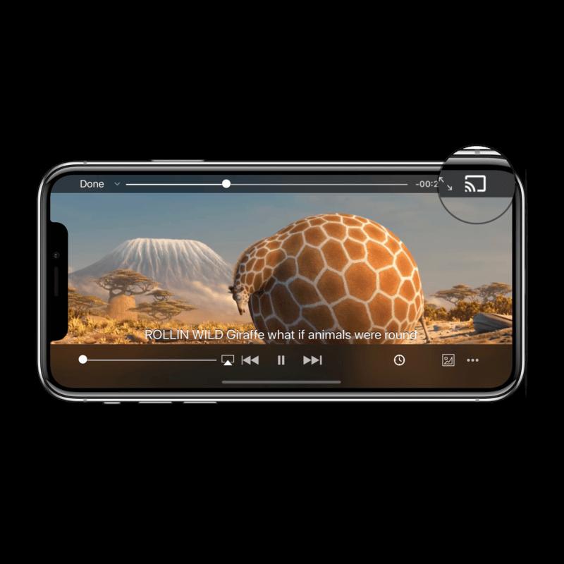 Внешний вид проигрывателя VLC для iOS