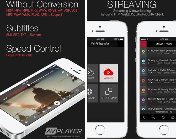 Интерфейс AVPlayer для айфон