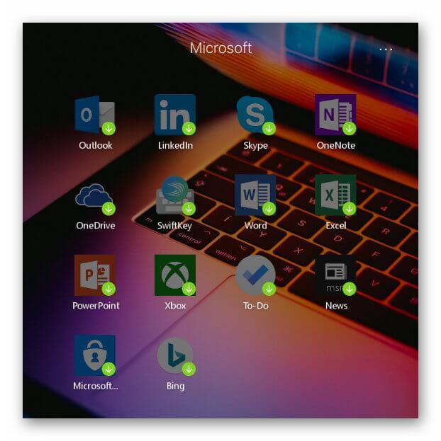 Приложения Microsoft Launcher