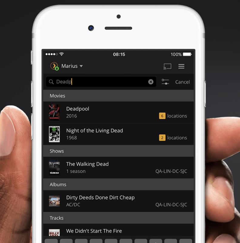 Интерфейс Plex для айфон ios