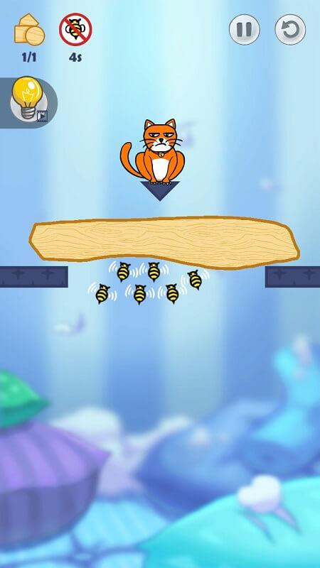 Атака пчел в Hello Cats на Андроид