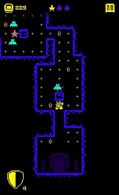 Летучие мыши в Tomb of the Mask на Андроид