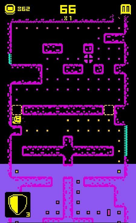 Наполнение игрового поля водой в Tomb of the Mask на Андроид