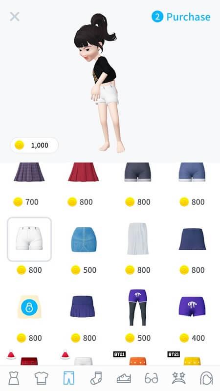 Обновление гардероба в ZEPETO на Андроид
