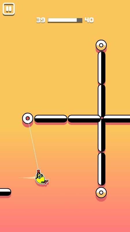 Преодоление препятствий в Stickman Hook