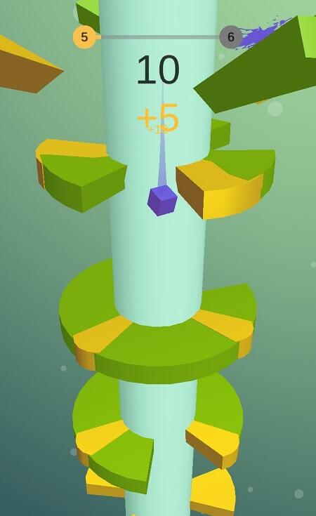 Процесс игры в Helix Jump на Андроид