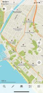 обзор города в Maps me