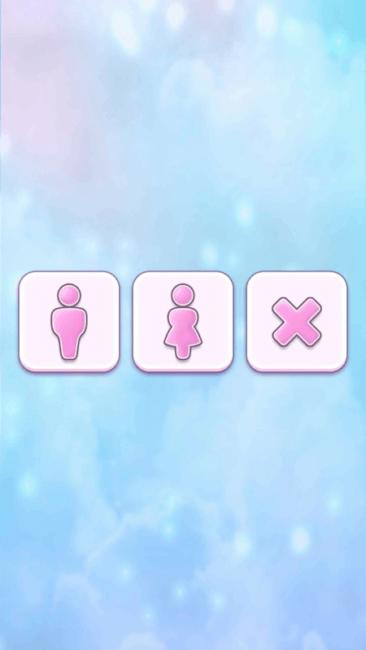 Выбор пола игрока