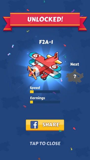 Разблокировать самолета нового уровня