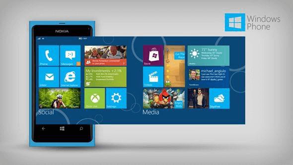 Интерфейс Windows Phone