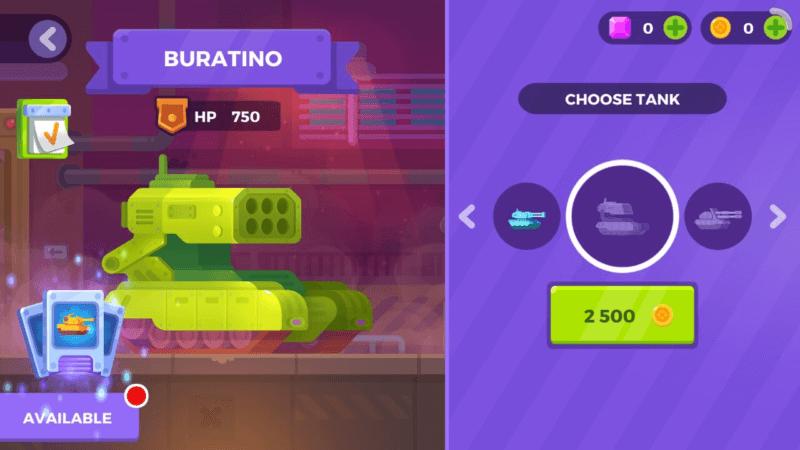 Модель танка Buratino
