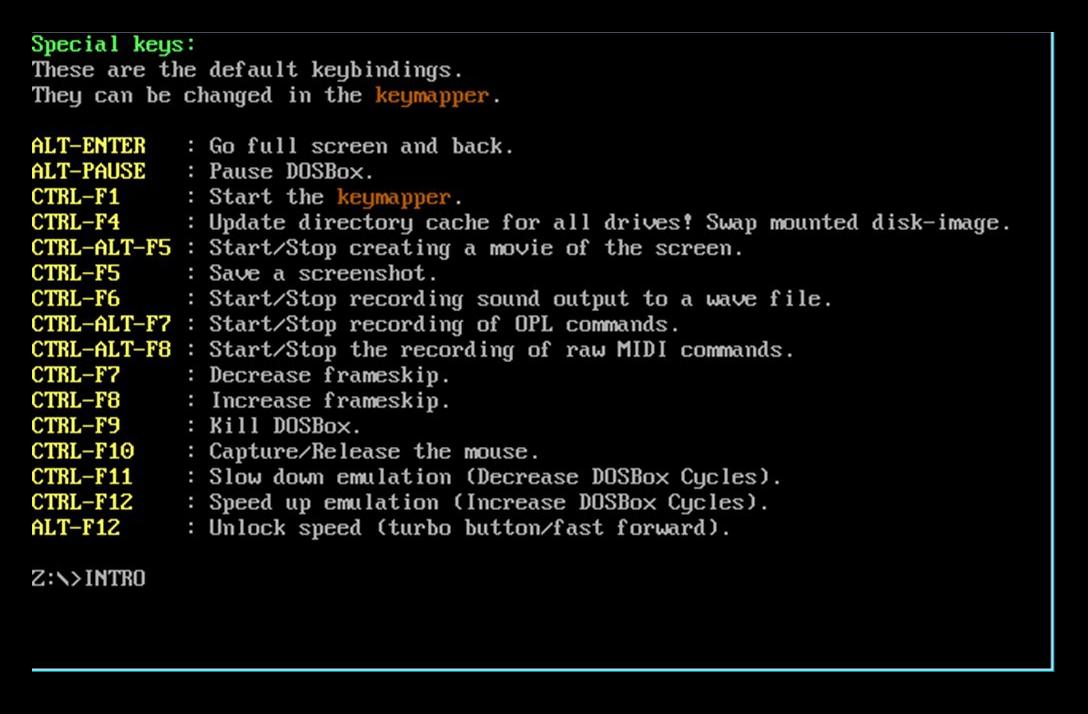 Интерфейс DOSbox