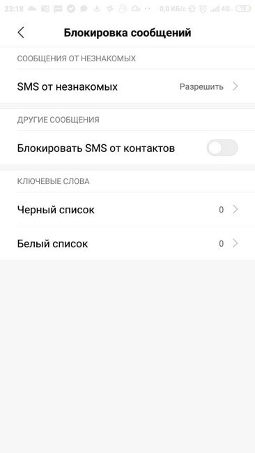 Антиспам блокировка сообщений