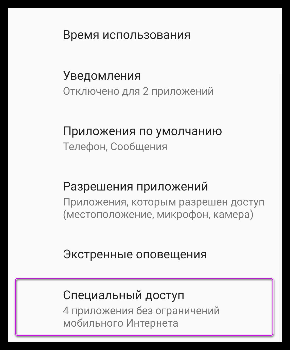 Специальный доступ (2)