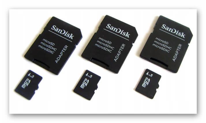 Карты памяти Micro SD с адаптерами