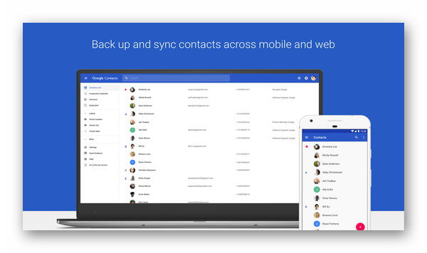 Контакты Google на Android и Windows