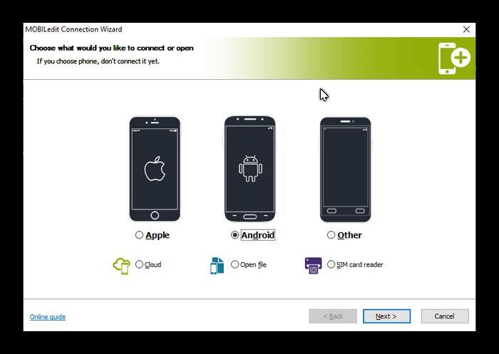 Установка Андроид-устройства