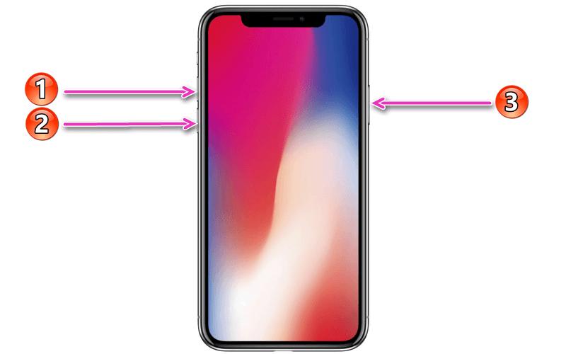 Перезагрузка iPhone 8 и выше