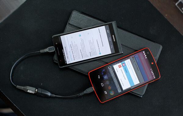Подключение другого смартфона к смартфону через OTG