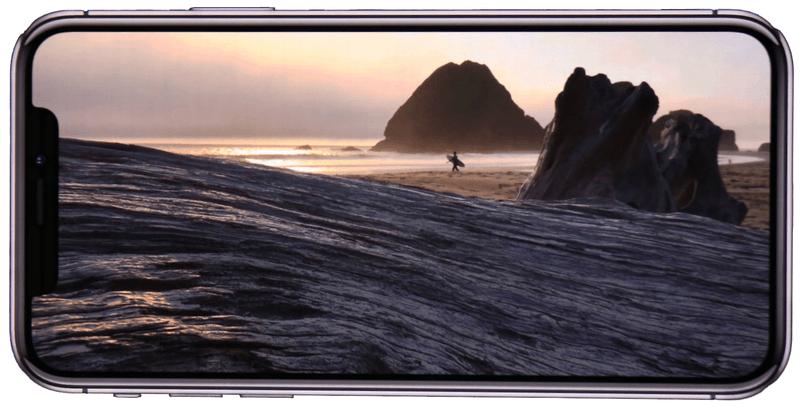 Просмотр видео на Айфоне в ландшафтном режиме