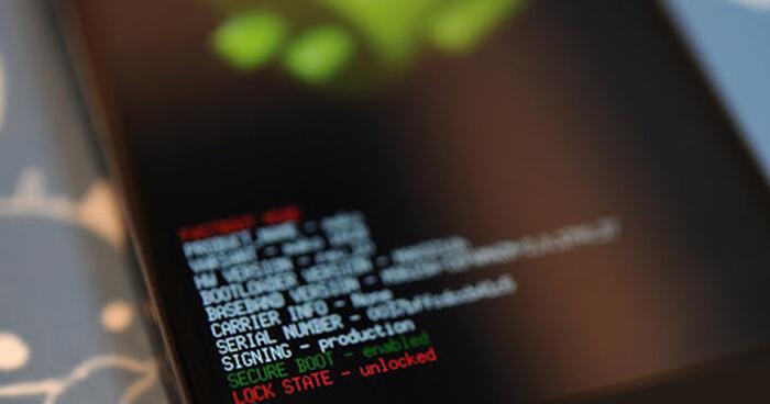 Процесс разблокировки bootloader