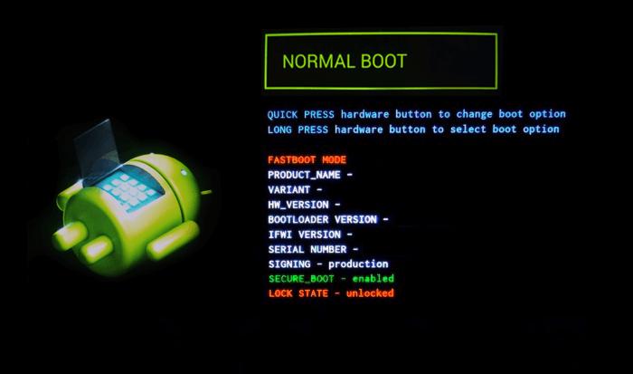 Режим загрузки Андроид в Normal Boot