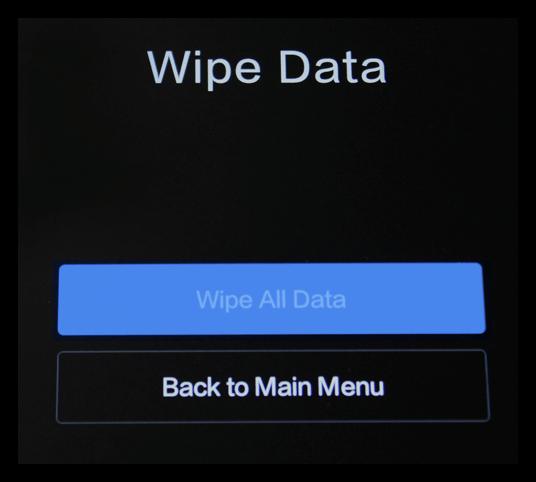 Стереть данные в Reboot to Blootloader