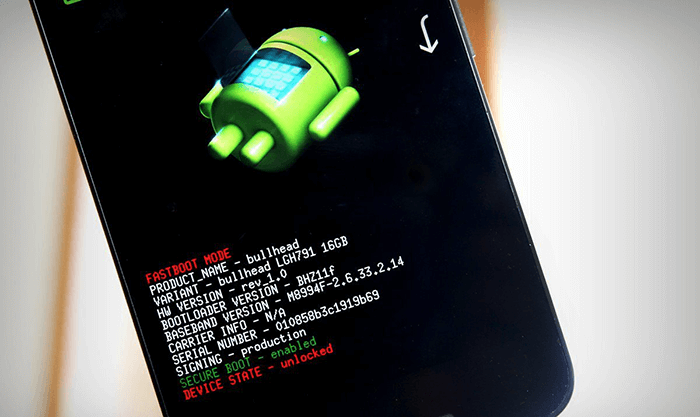 Загрузка Android в режиме Fastboot Mode