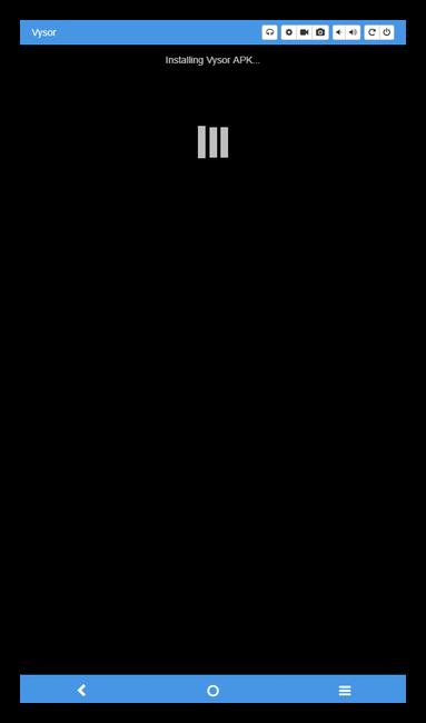 Подключение к телефону в Vysor для ПК