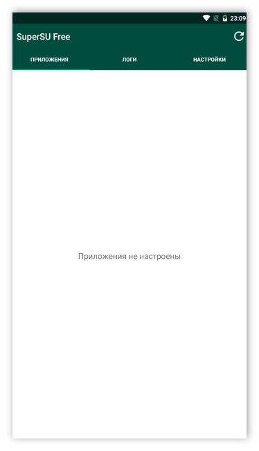 Приложения не настроены в SuperSu для Android