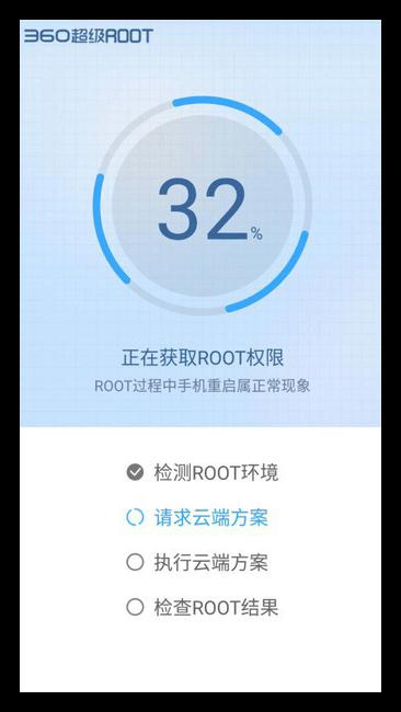 Процесс получения root-прав в 360 Root для Android