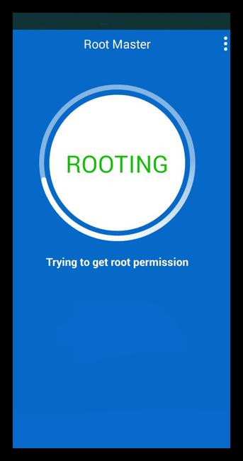 Процесс получения root в Root Master для Андроид