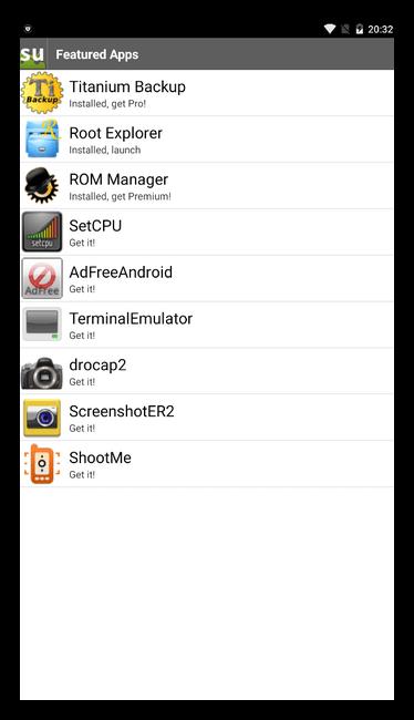 Superuser для Андроид