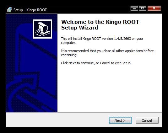 Установщик Kingo Root для ПК