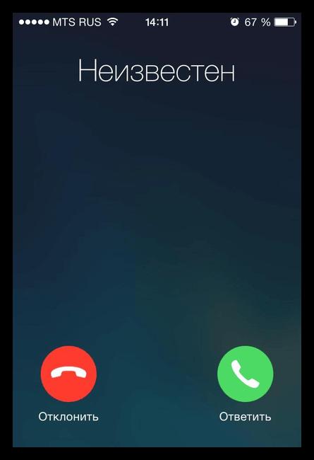 Звонок неизвестного номера