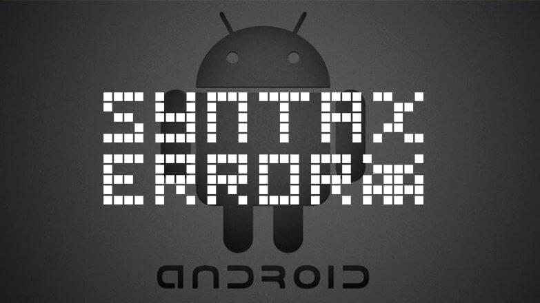 синтаксические ошибка android