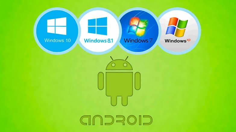 установить windows на андроид