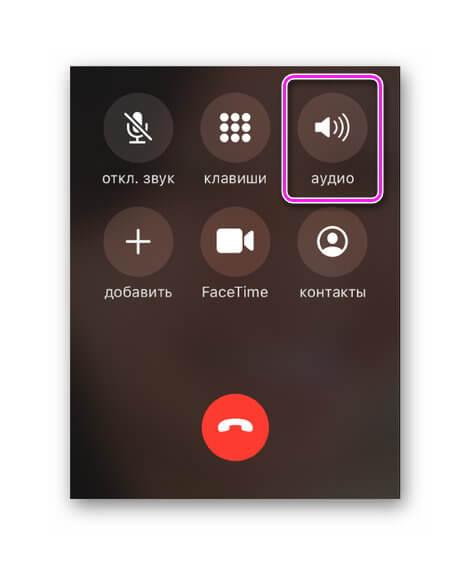 Громкая связь в iOS