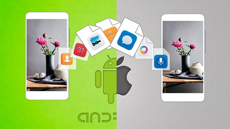 Перенос данных с Android на iPhone