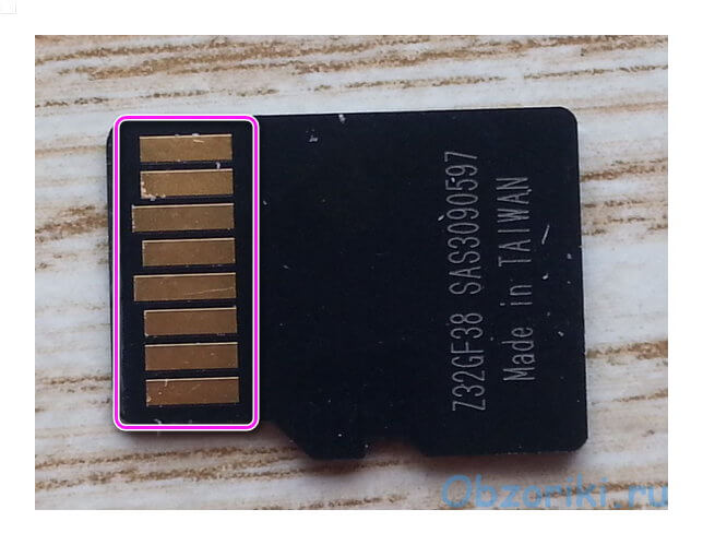 Контакты microSD