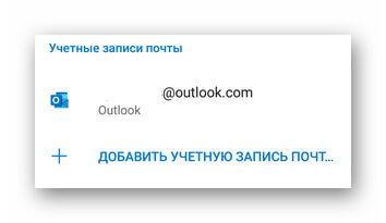 Почтовый ящик Outlook