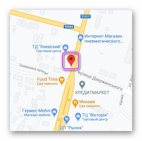 Местоположение телефона на Google-картах