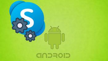 Настройка Skype на телефоне Android